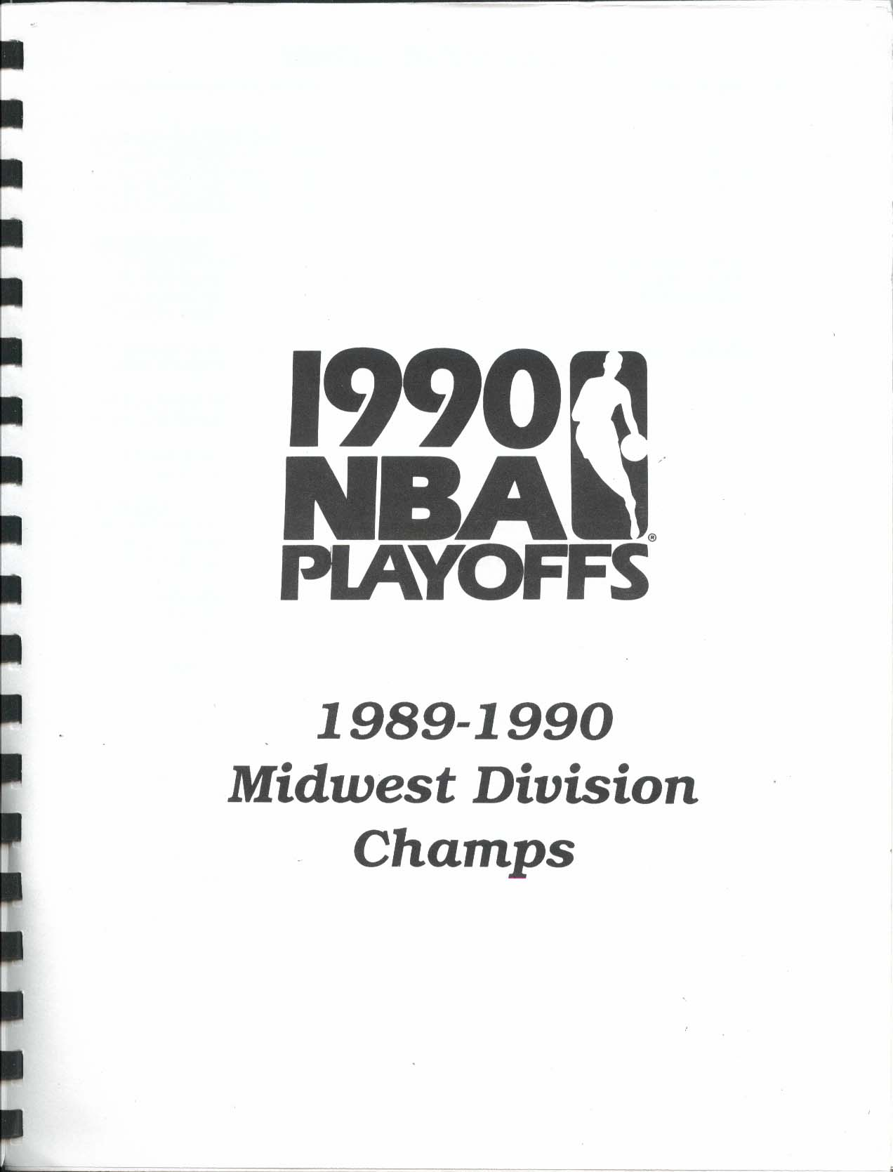 Image for San Antonio Spurs 1990 Playoffs Media Information Book