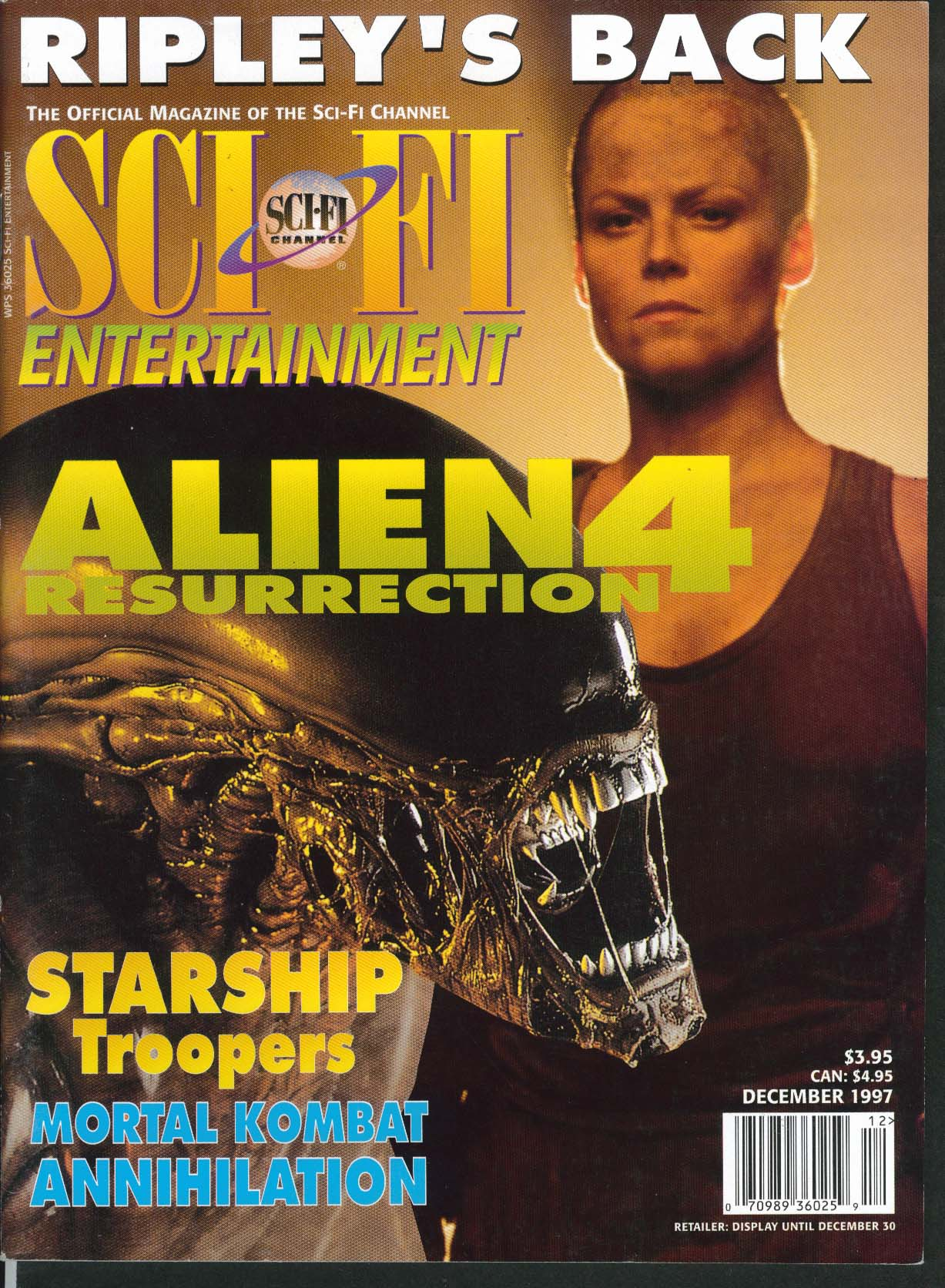 Image for SCI FI CHANNEL Sigourney Weaver Alien Ressurection Starship Troopers ++ 12 1997