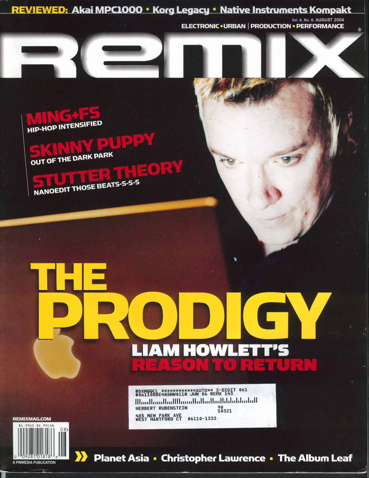 Image for REMIX Skinny Puppy Stytter Theory Liam Howlett Christopher Lawrence ++ 8 2004