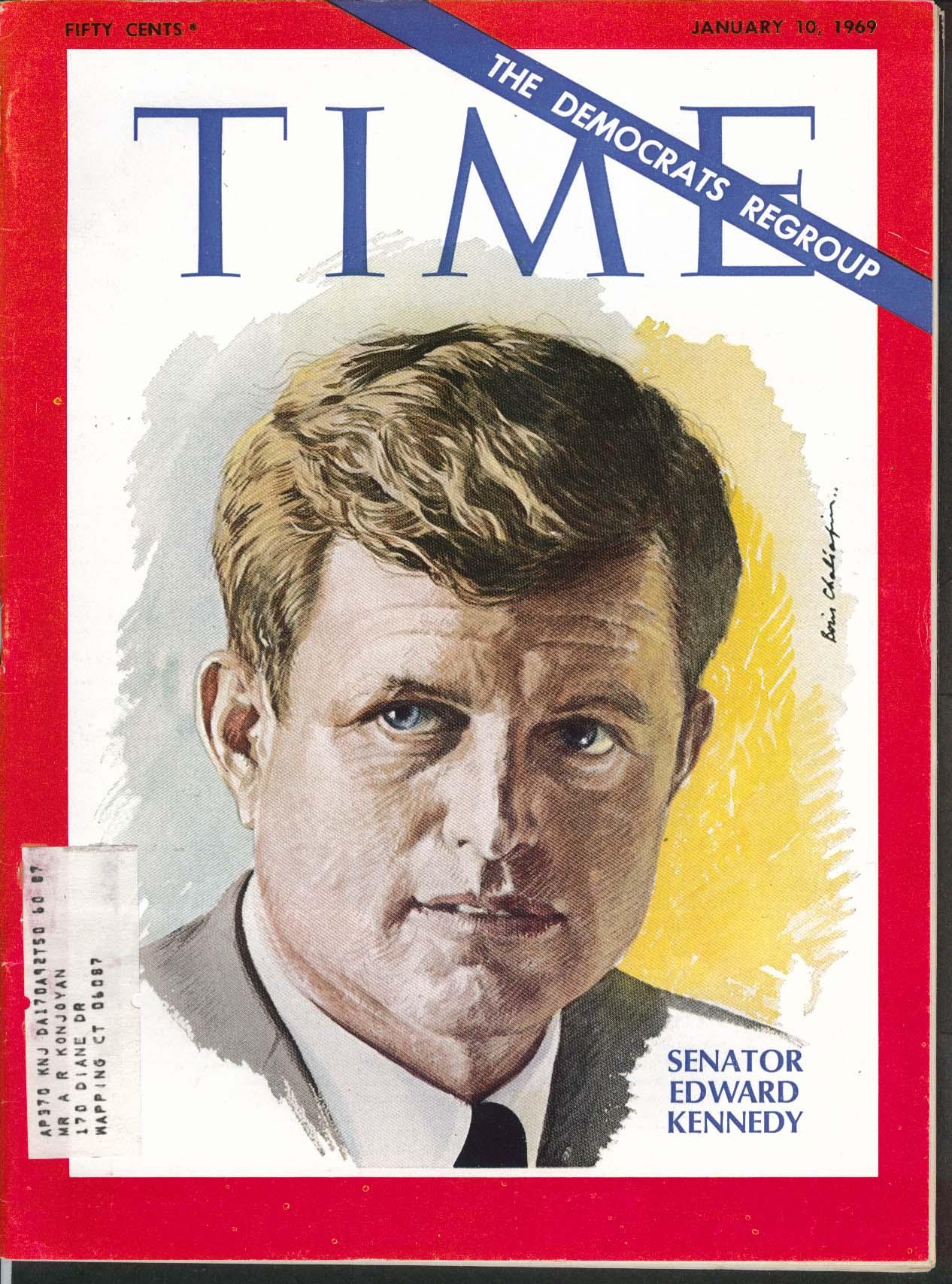 Image for TIME Edward Kennedy USS Pueblo Nixon Key Biscayne Volunteer Army ++ 1/10 1969