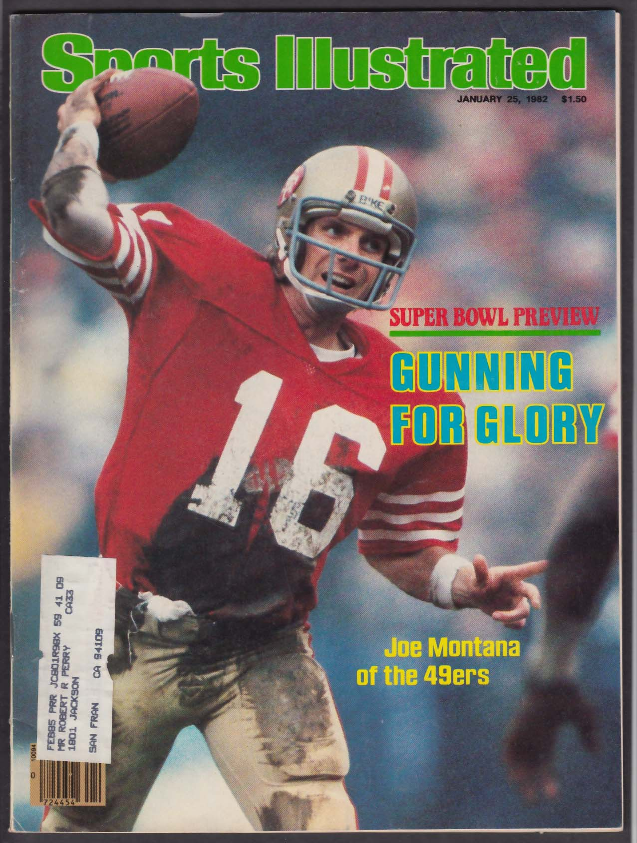 SPORTS ILLUSTRATED Joe Montana Billy Olson Carl Lewis Ivan Lendl ++ 1/25 1982