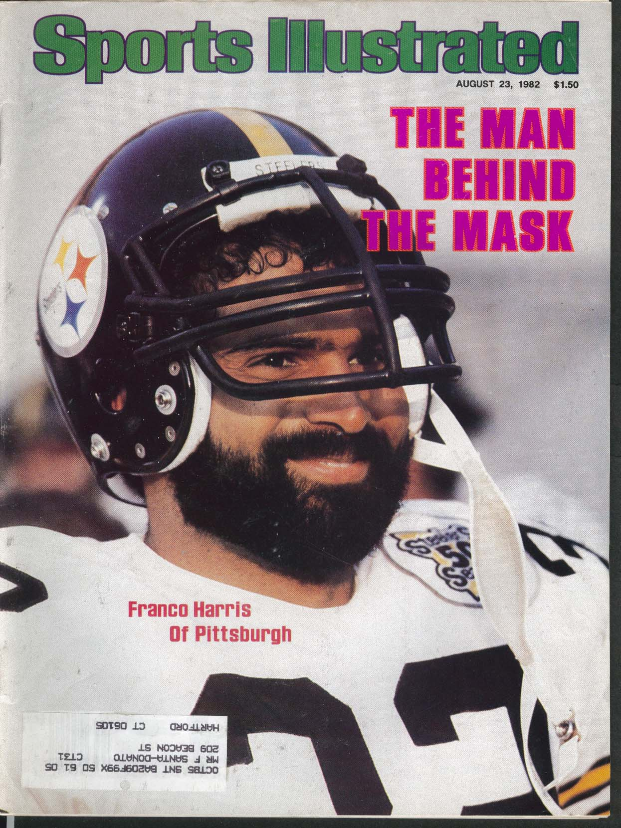 SPORTS ILLUSTRATED Franco Harris Renaldo Nehemiah Mychal Thompson ++ 8/23 1982