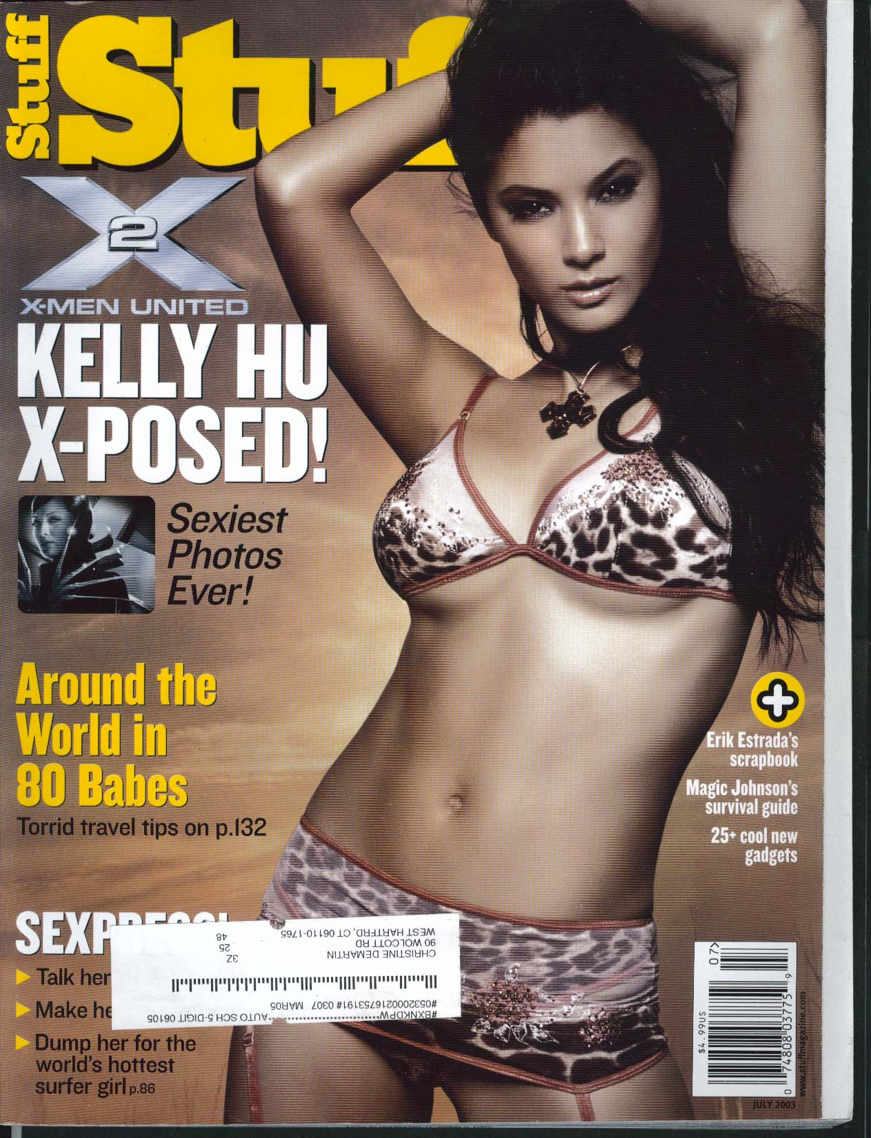 STUFF Kelly Hu Erik Estrada Magic Johnson Stacy Keibler Stan Winston 7 2003