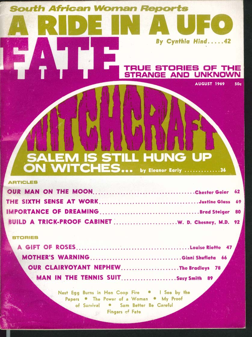FATE #233 Salem Witchcraft South African UFO Tennis Suit 8 1969