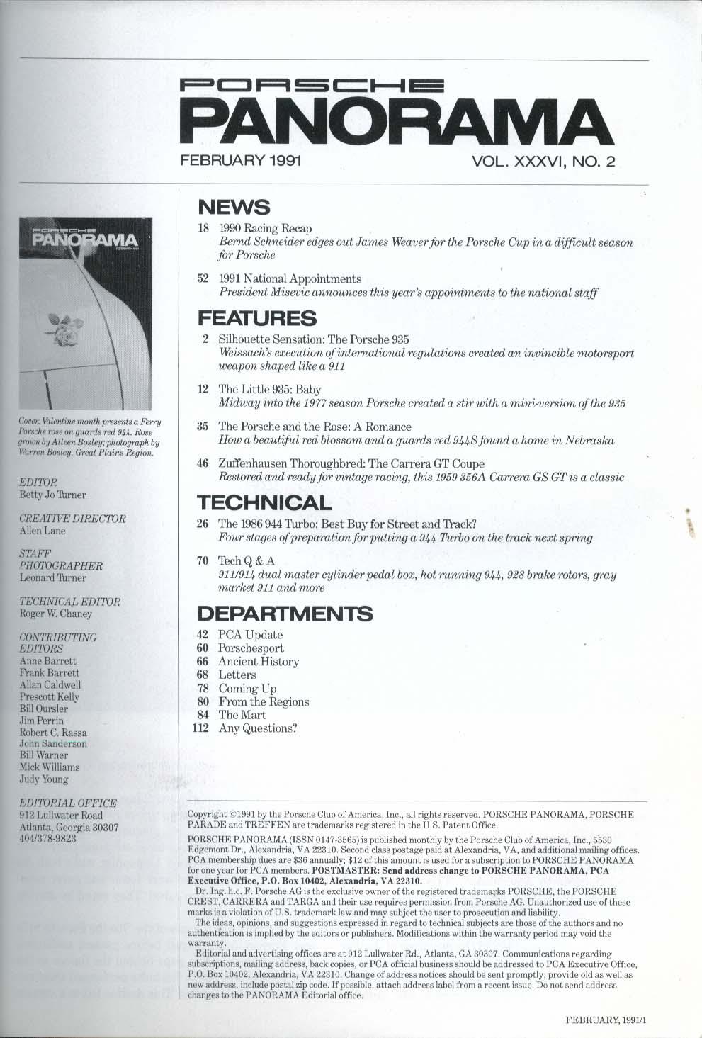 PORSCHE PANORAMA Bernd Schneider James Weaver Misevic Carrera GT Coupe 2 1991