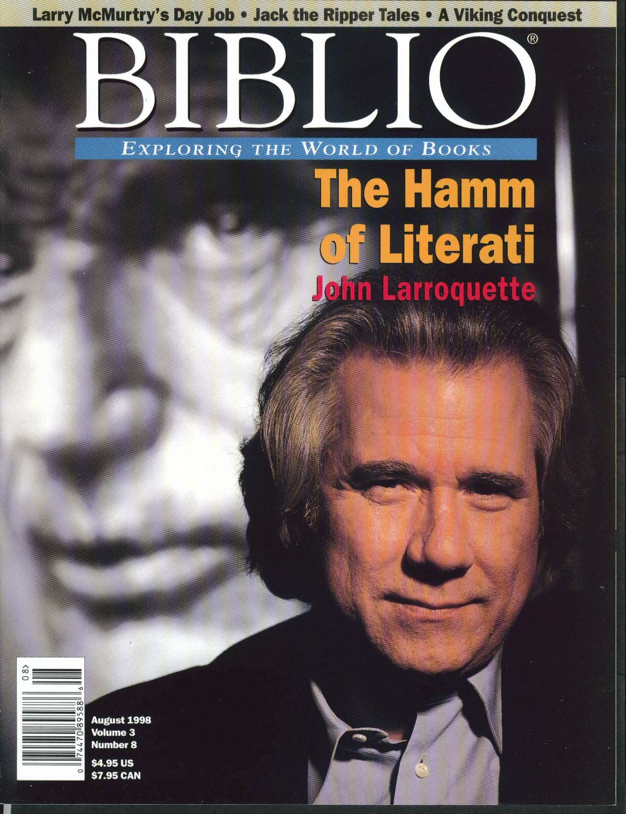 BIBLIO John Larroquette Larry McMurtry Jack the Ripper Samuel Beckett 8 1998