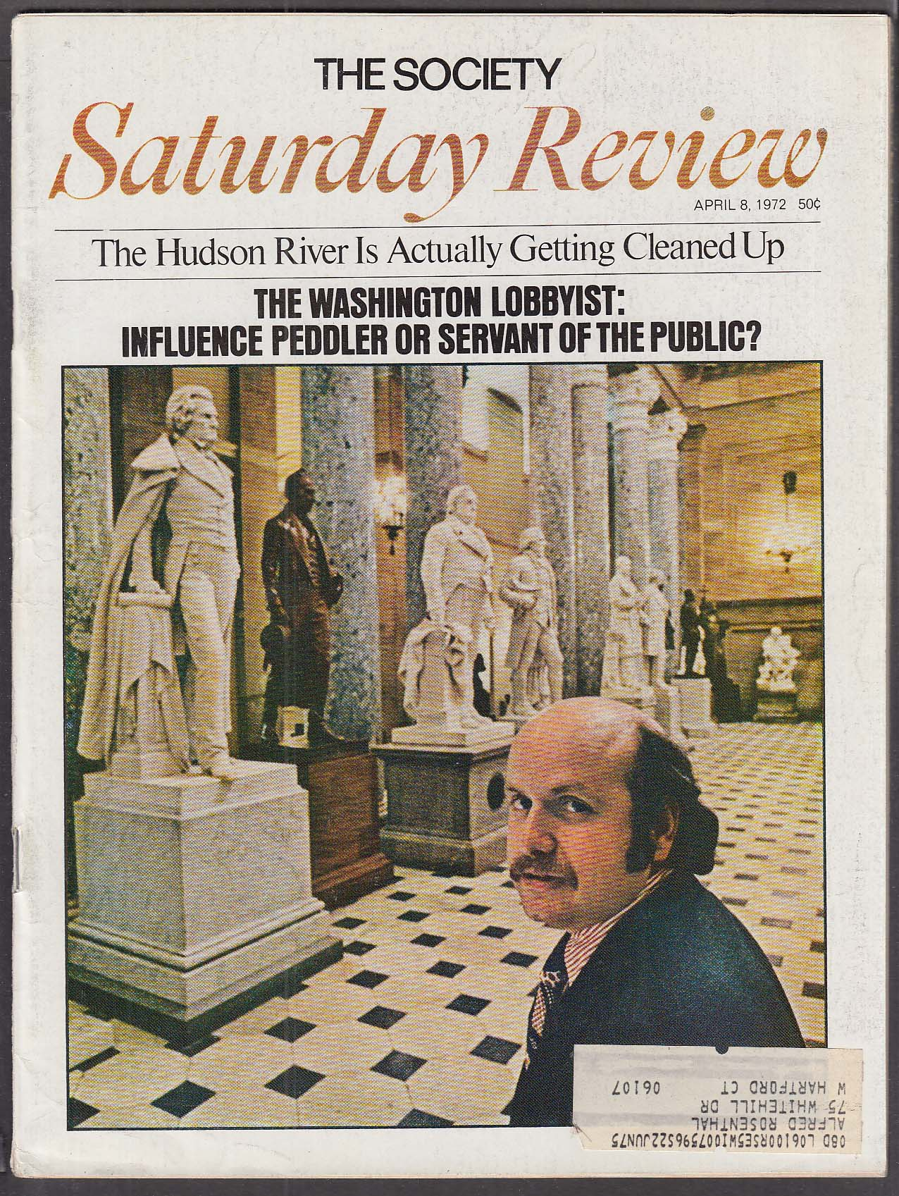 SATURDAY REVIEW Genetic engineering Hudson River pollution 4/8 1972