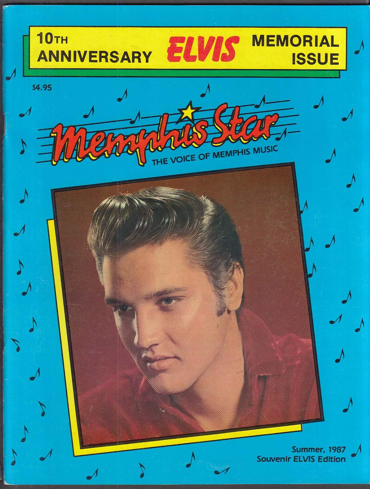MEMPHIS STAR 10th anniversary Elvis Presley memorial issue Summer 1987
