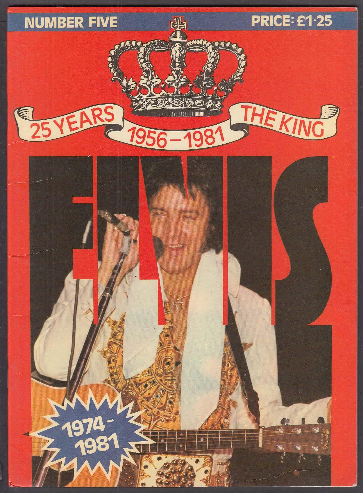 Official Elvis Fan Club 1981 25 Years #5 1974-1977