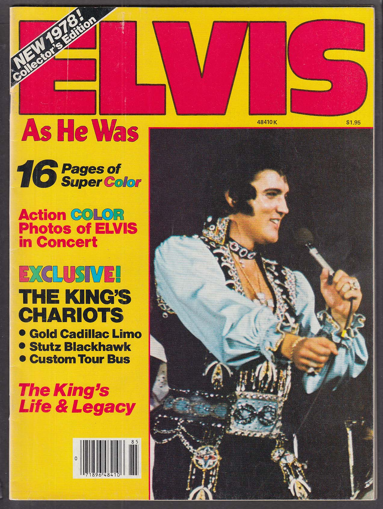 Elvis As He Was 1978 Collector's Edition RPM Sales Corp