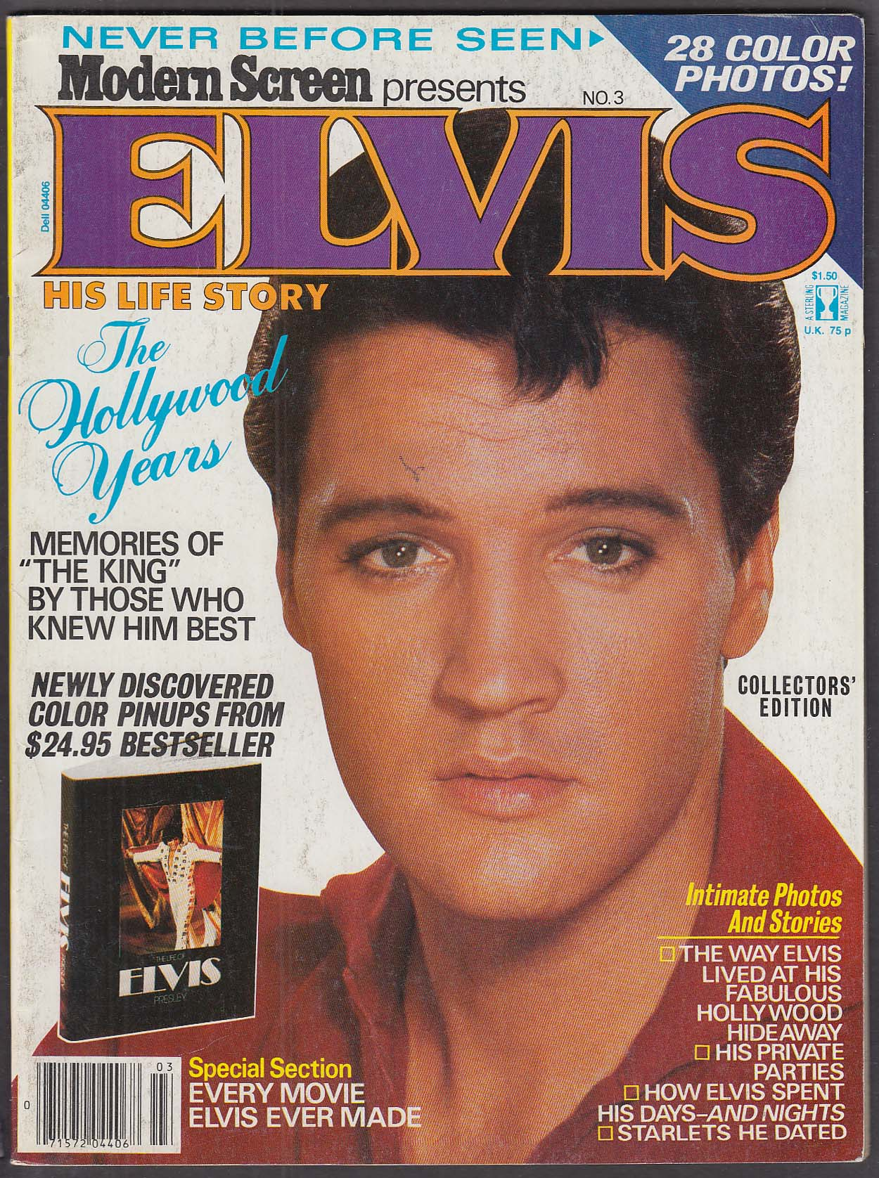 Modern Screen Presents Elvis #3 Sterling 1979