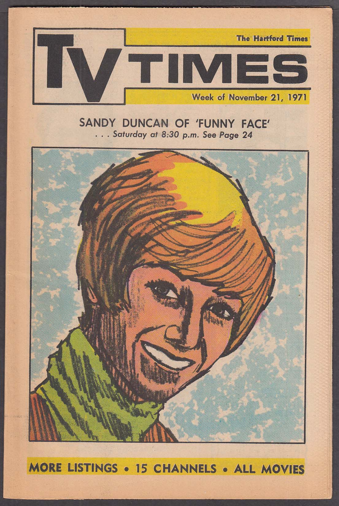 TV TIMES Sandy Duncan in Funny Face 11/21 1971