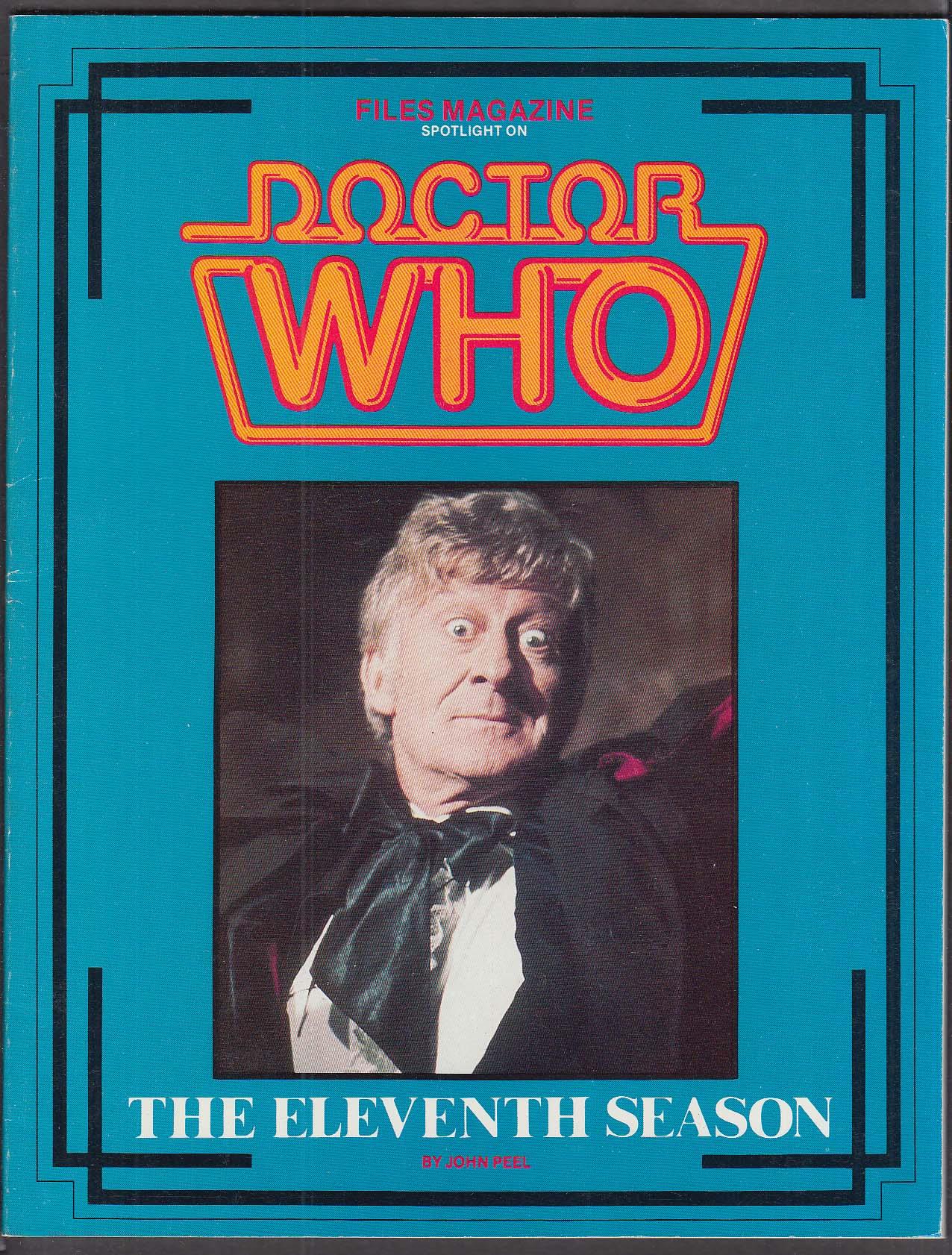 Files Magazine Doctor Who Season 11 1986 Jon Pertwee John Peel