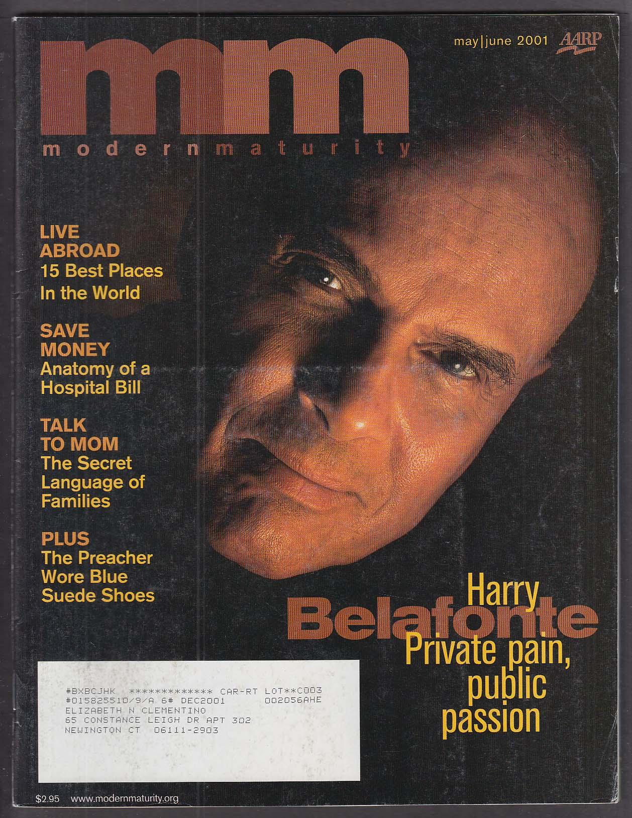 MODERN MATURITY Harry Belafonte Stanley Kunitz 5/6 2001