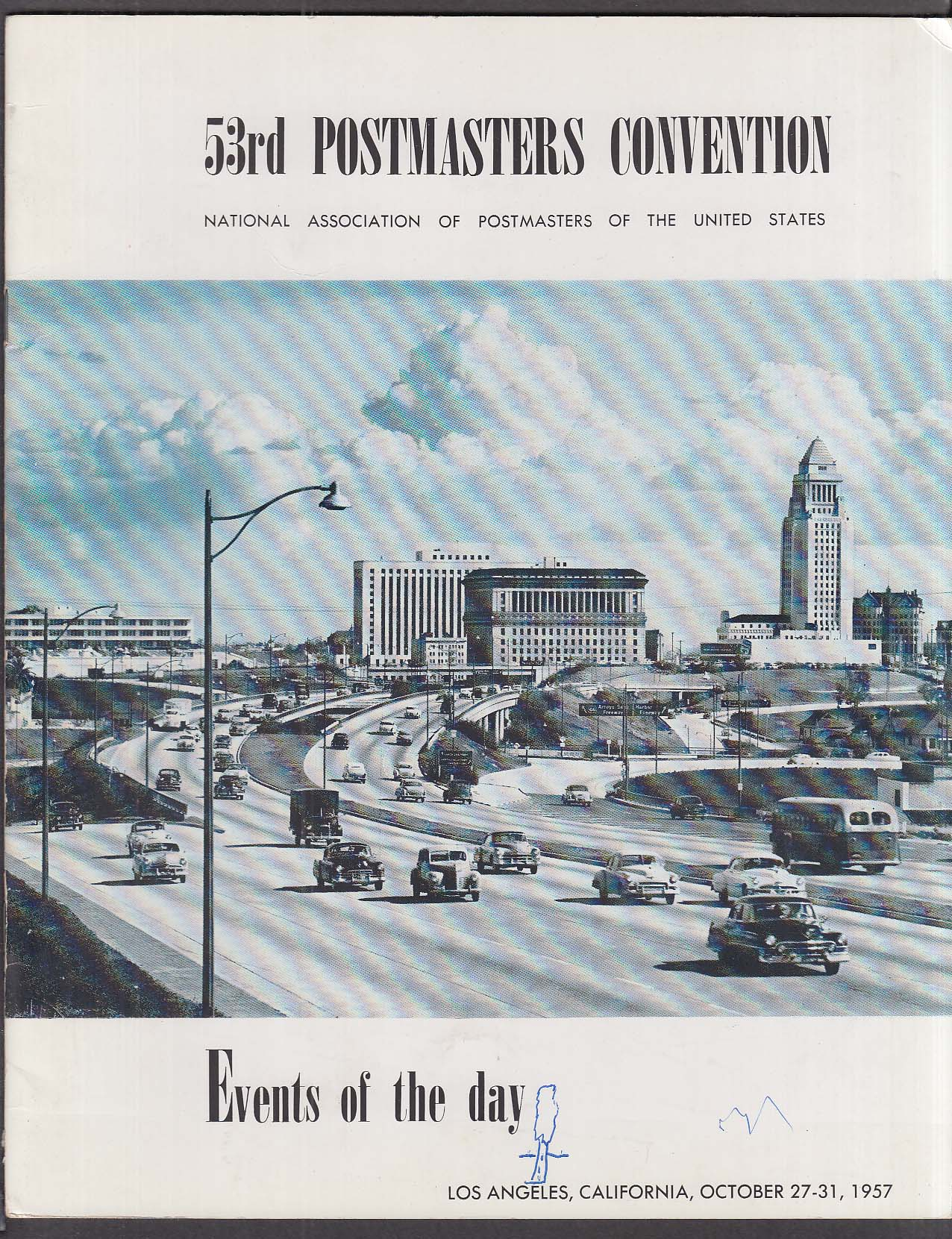 53rd Postmasters Convention 10 1957 Los Angeles CA program