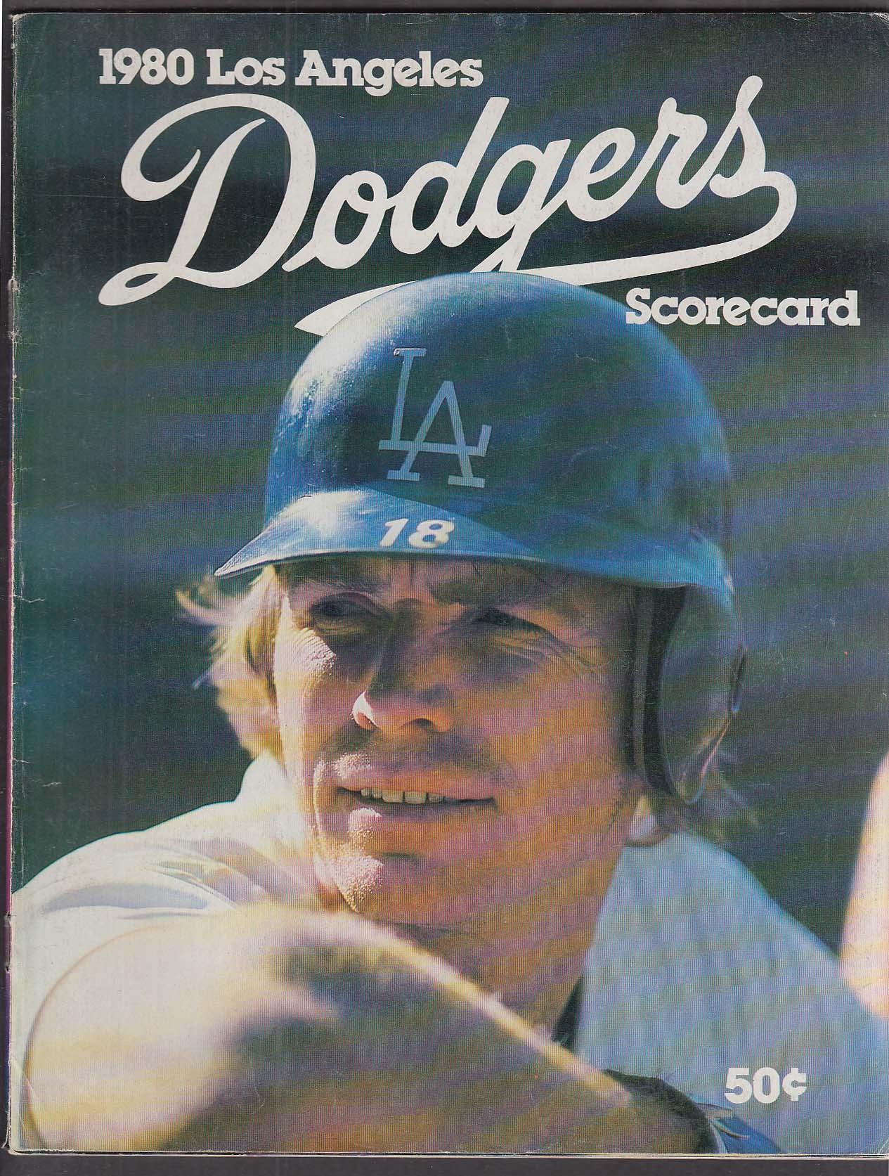 1980 Los Angeles LA Dodgers Scorecard UNSCORED