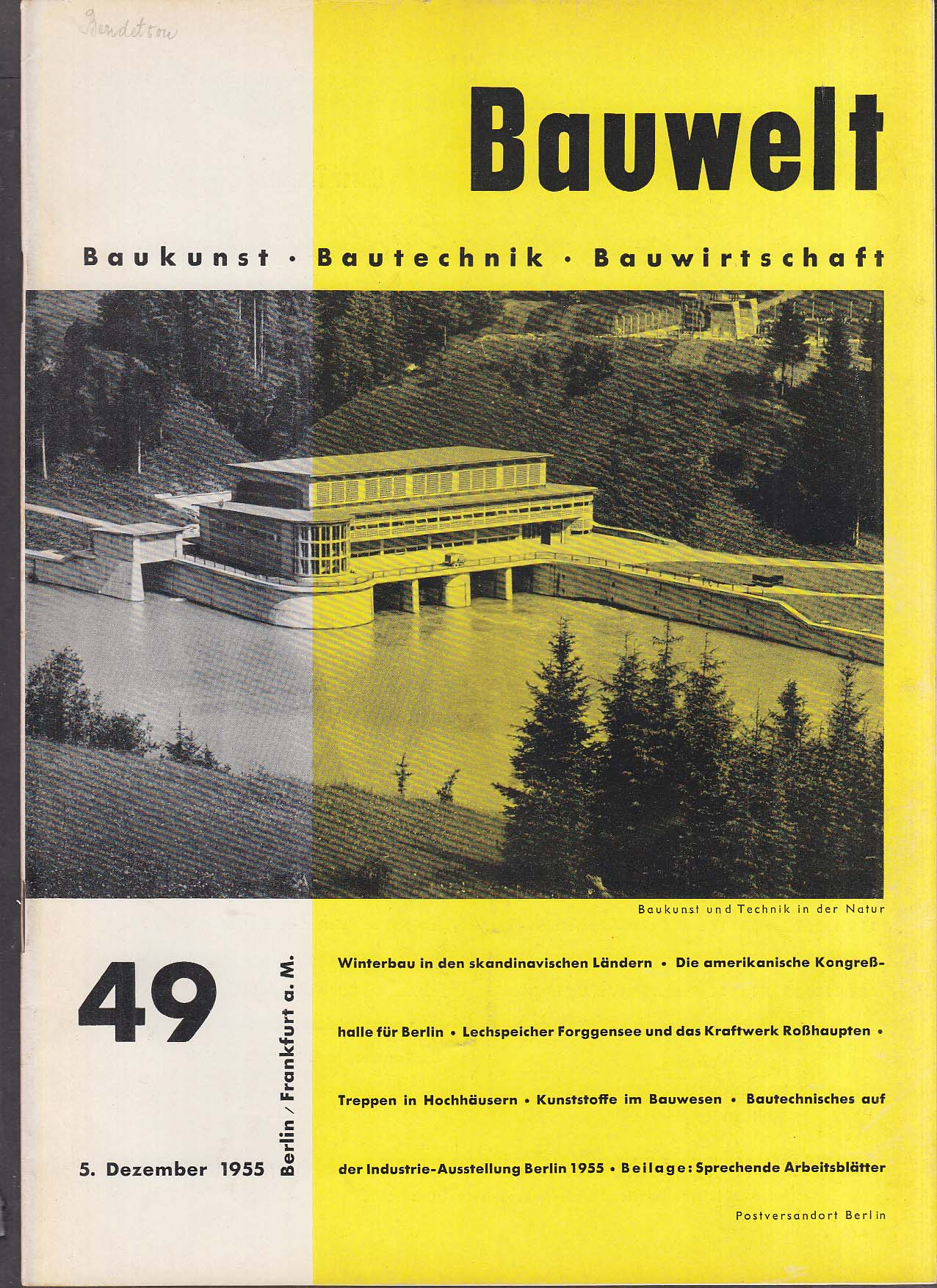 Bauwelt German architecture magazine 12/5/1955 49