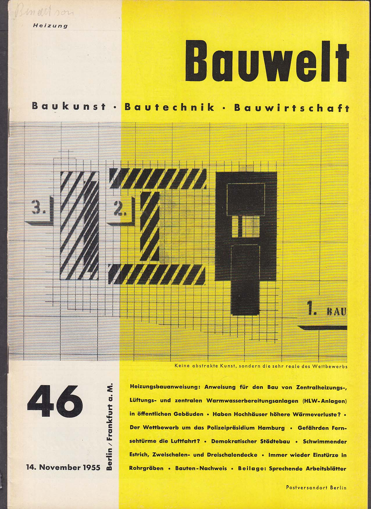 Bauwelt German architecture magazine 11/14/1955 46