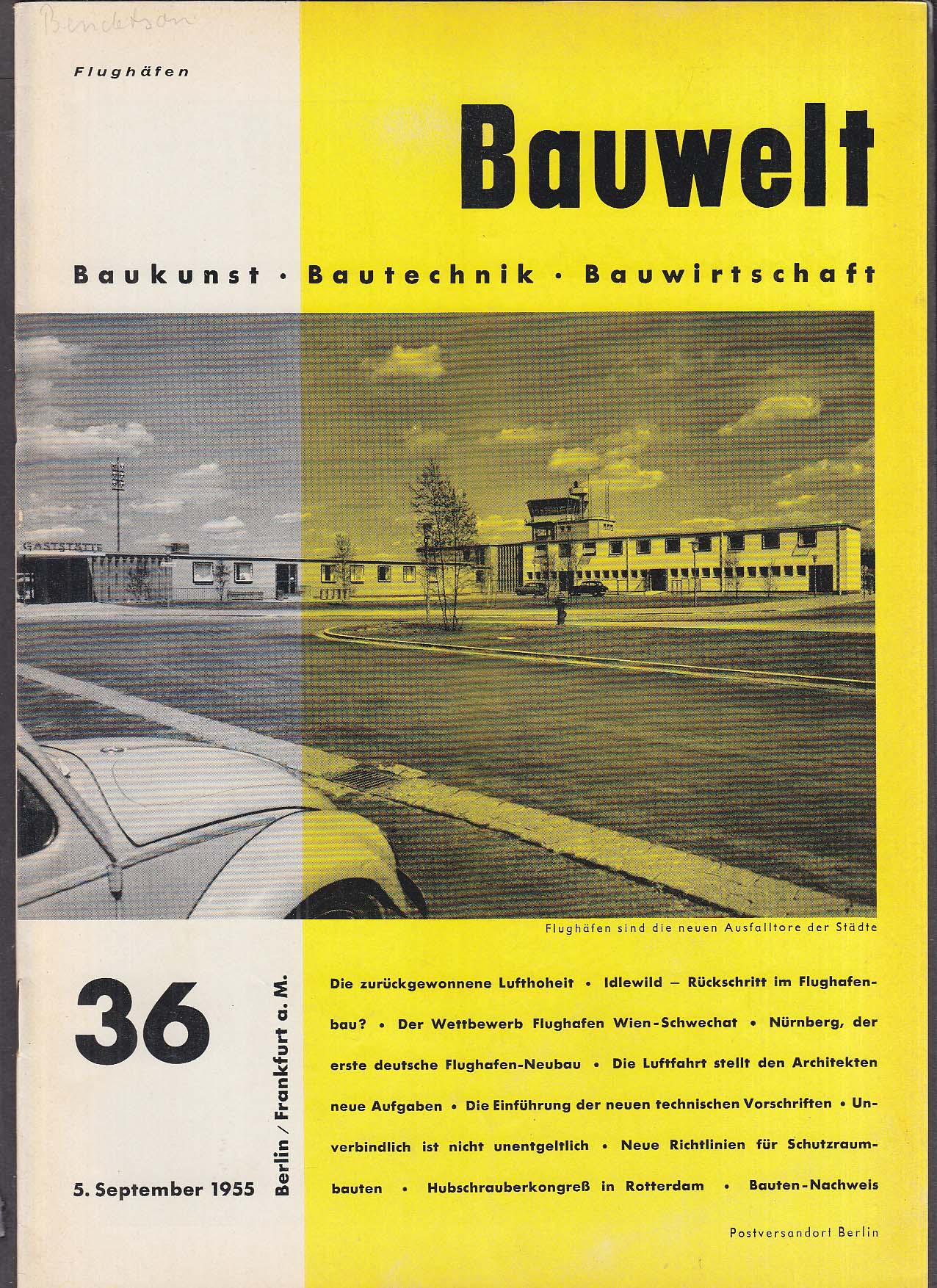 Bauwelt German architecture magazine 9/5/1955 36
