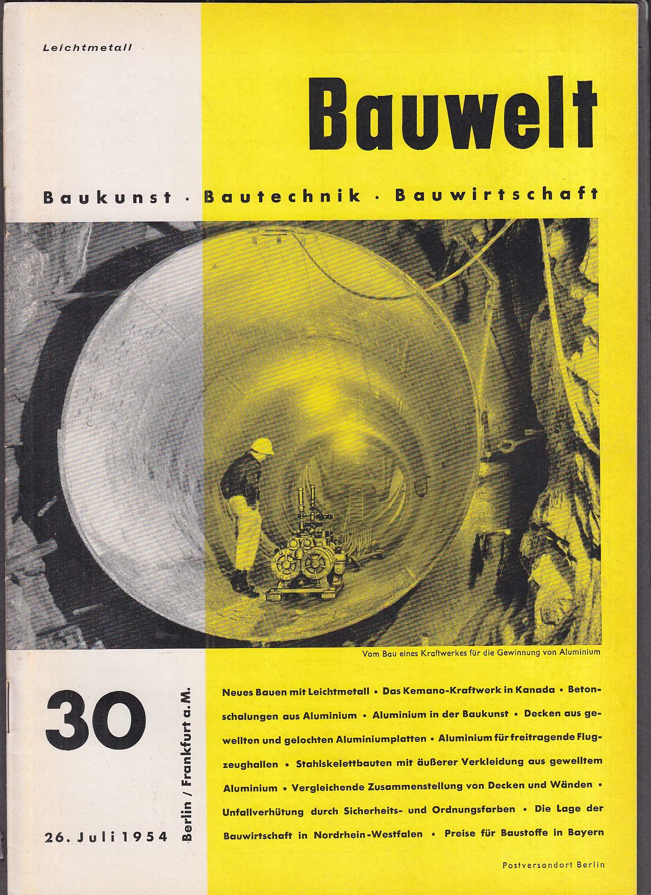 Bauwelt German architecture magazine 7/26/1954 30