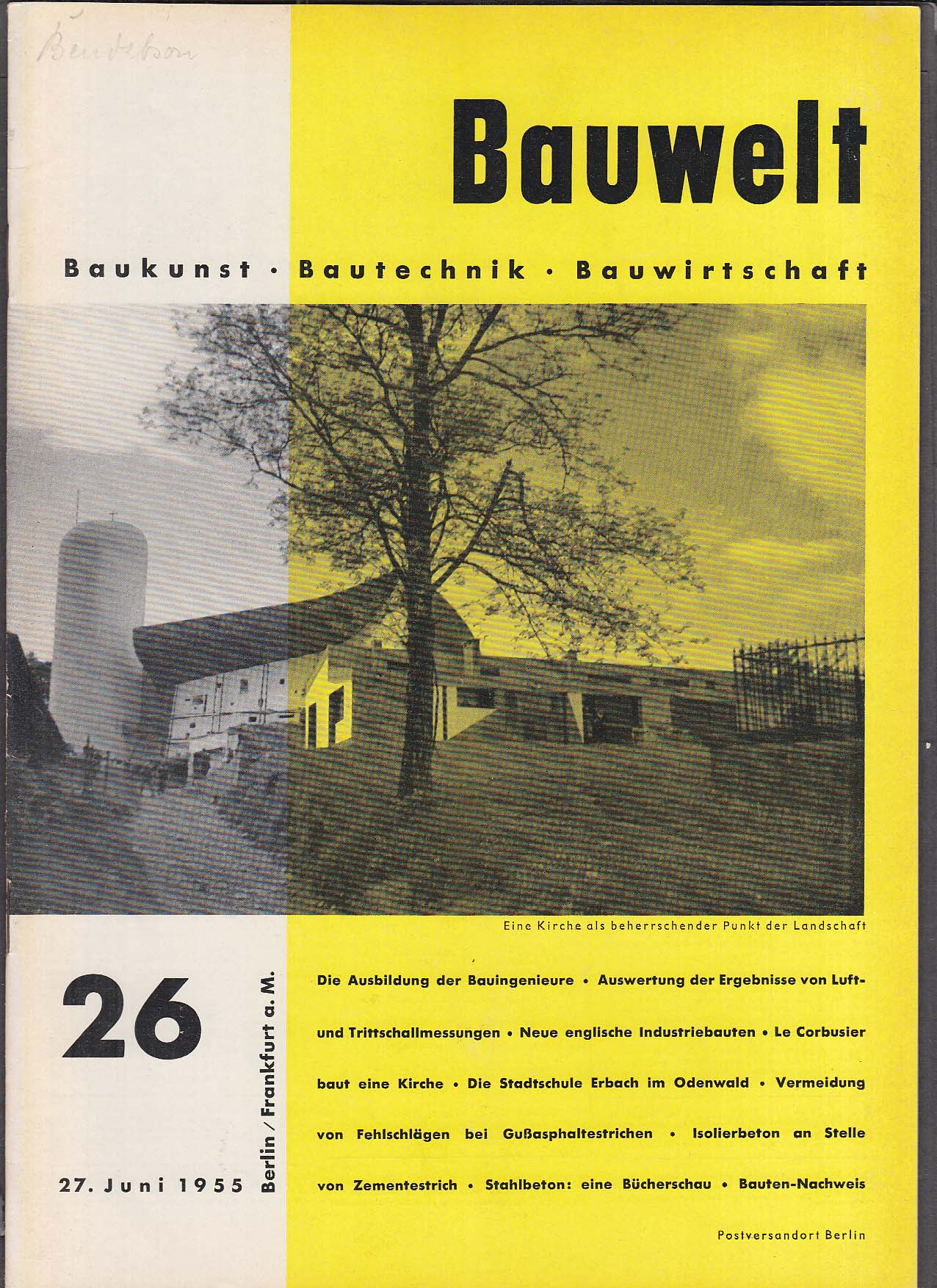 Bauwelt German architecture magazine 6/27/1955 26
