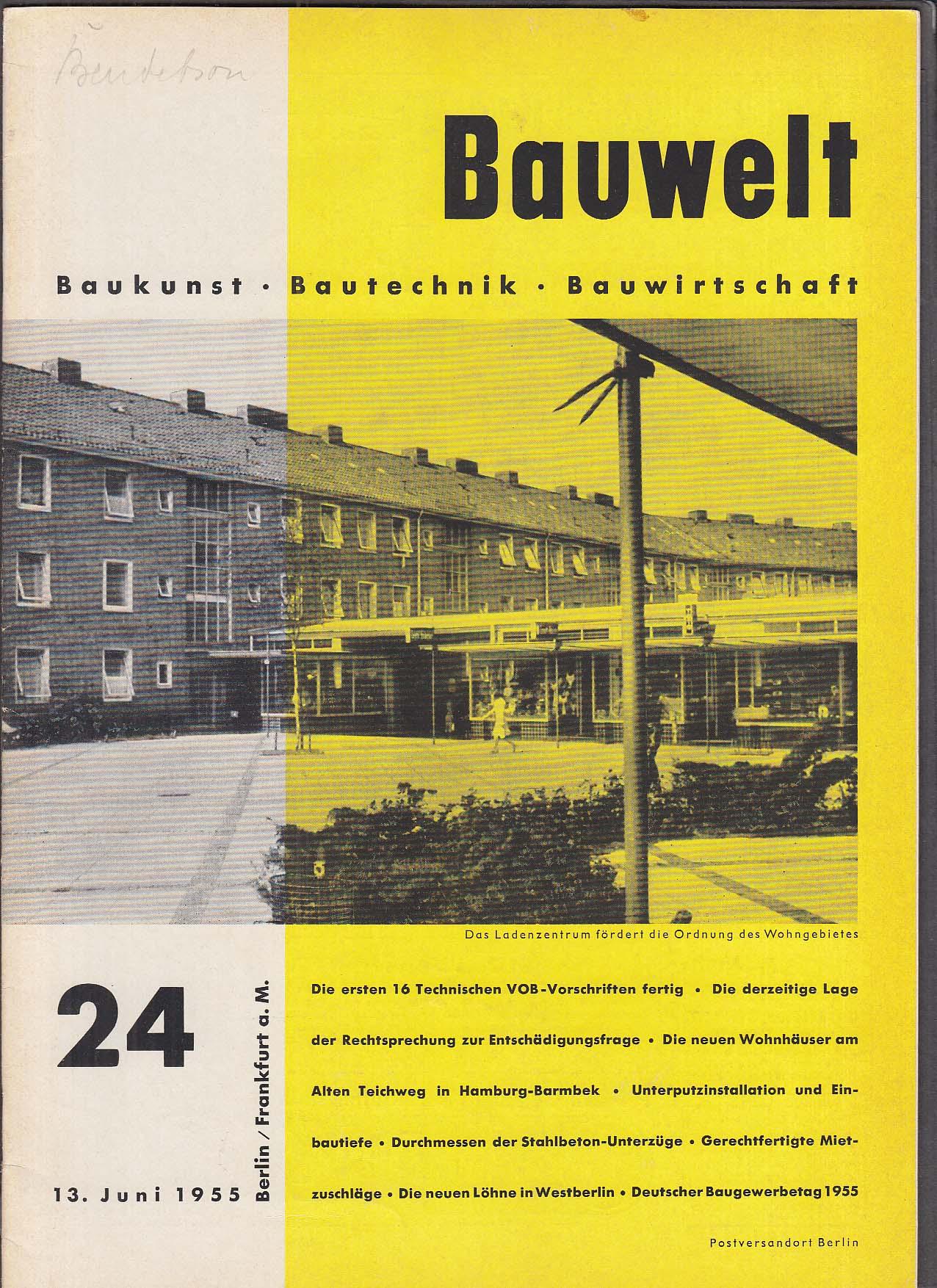 Bauwelt German architecture magazine 6/13/1955 24