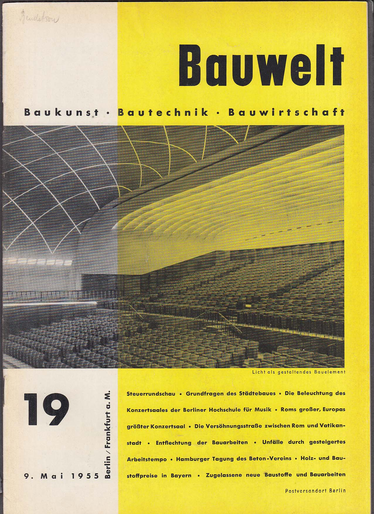 Bauwelt German architecture magazine 5/9/1955 19