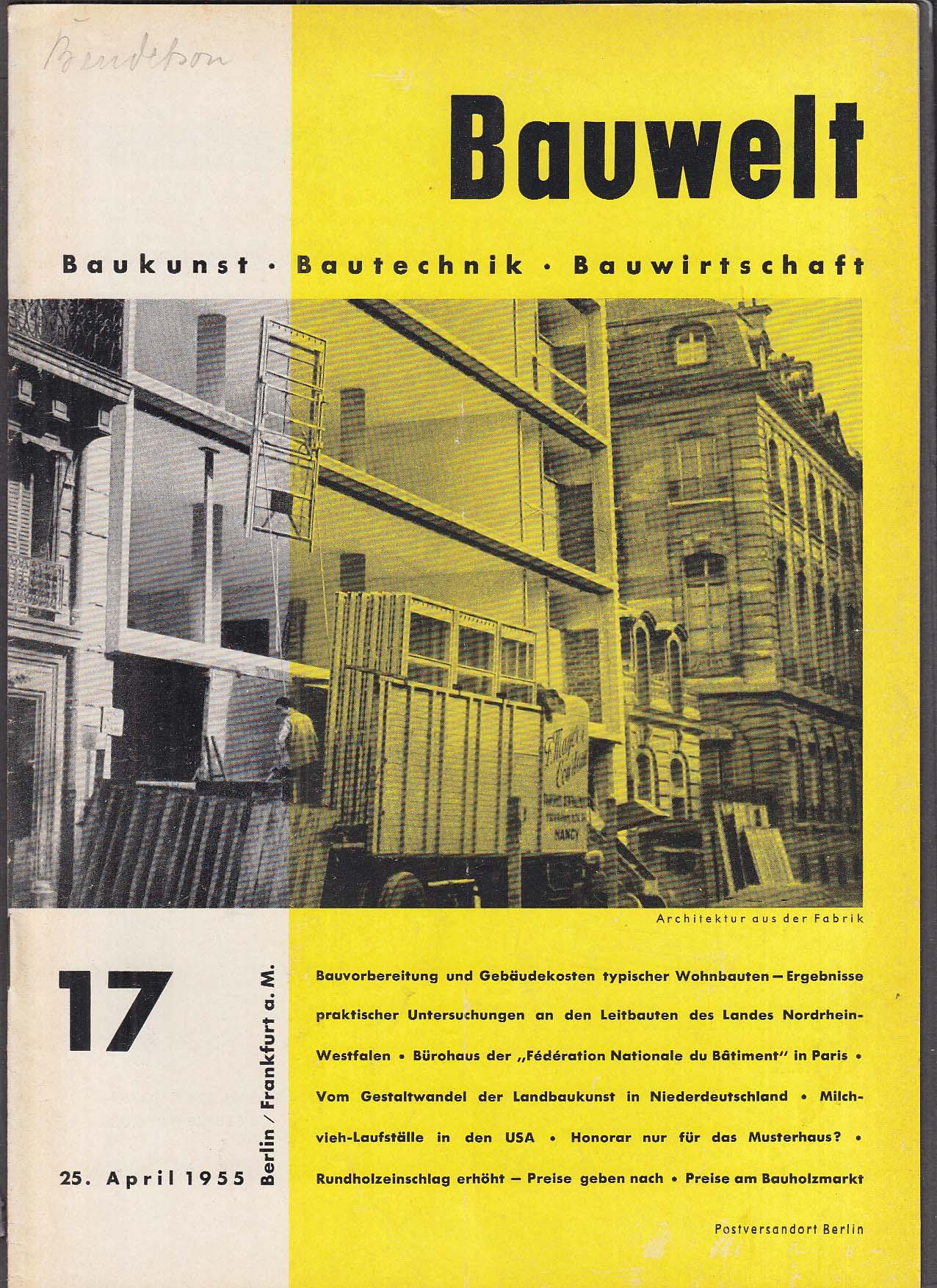 Bauwelt German architecture magazine 5/25/1955 17