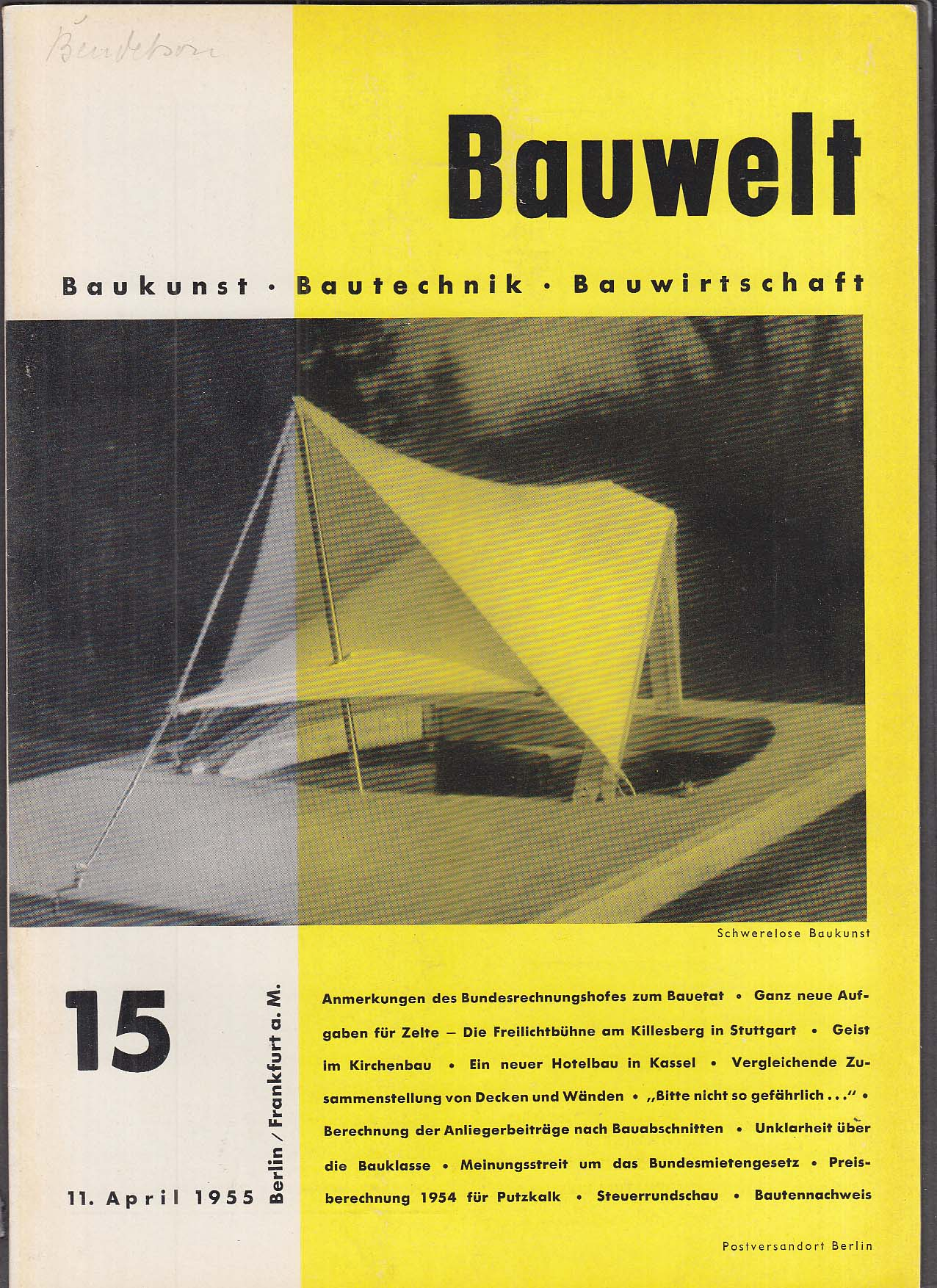 Bauwelt German architecture magazine 4/11/1956 15