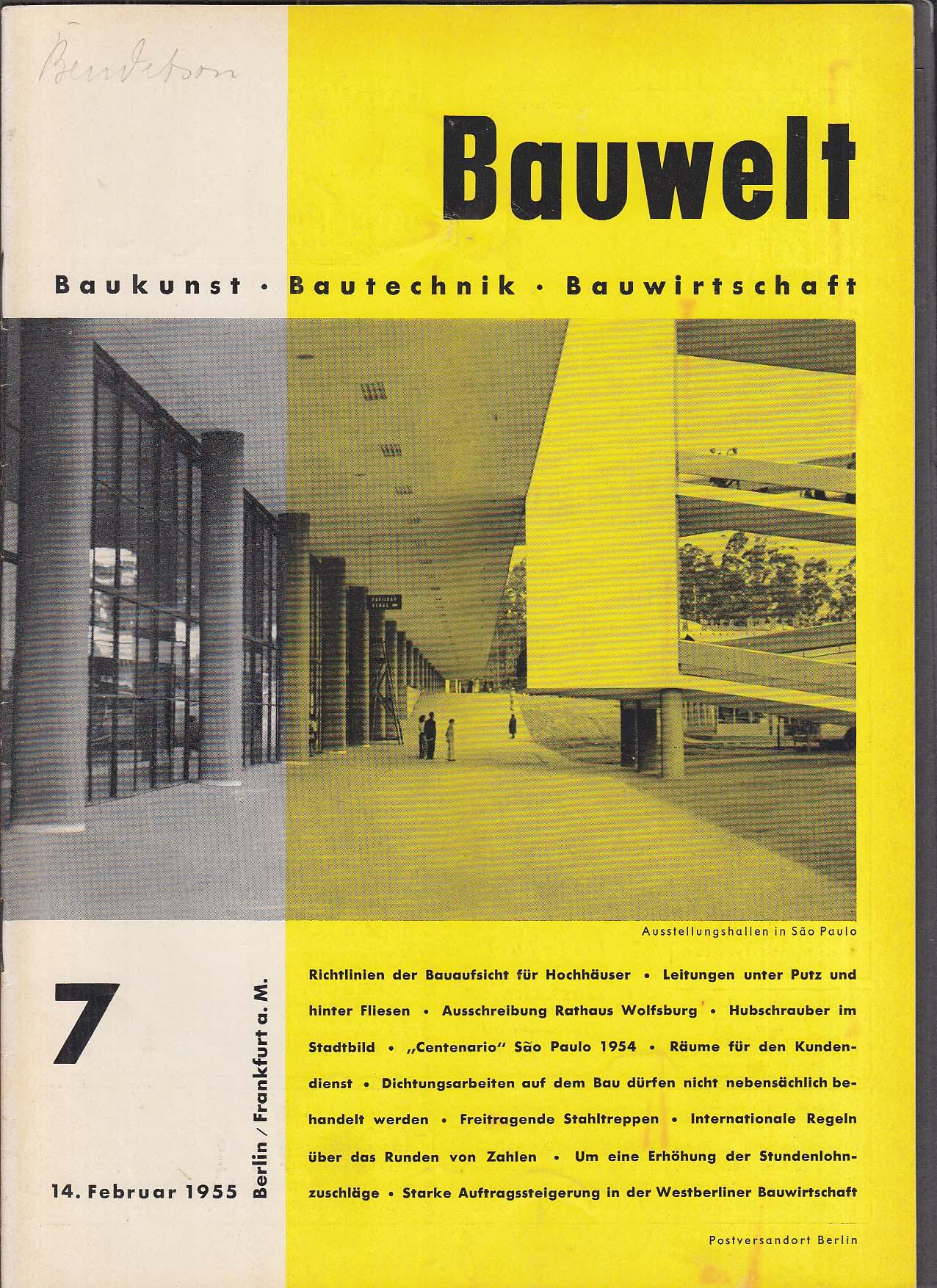 Bauwelt German architecture magazine 2/14/1955 7