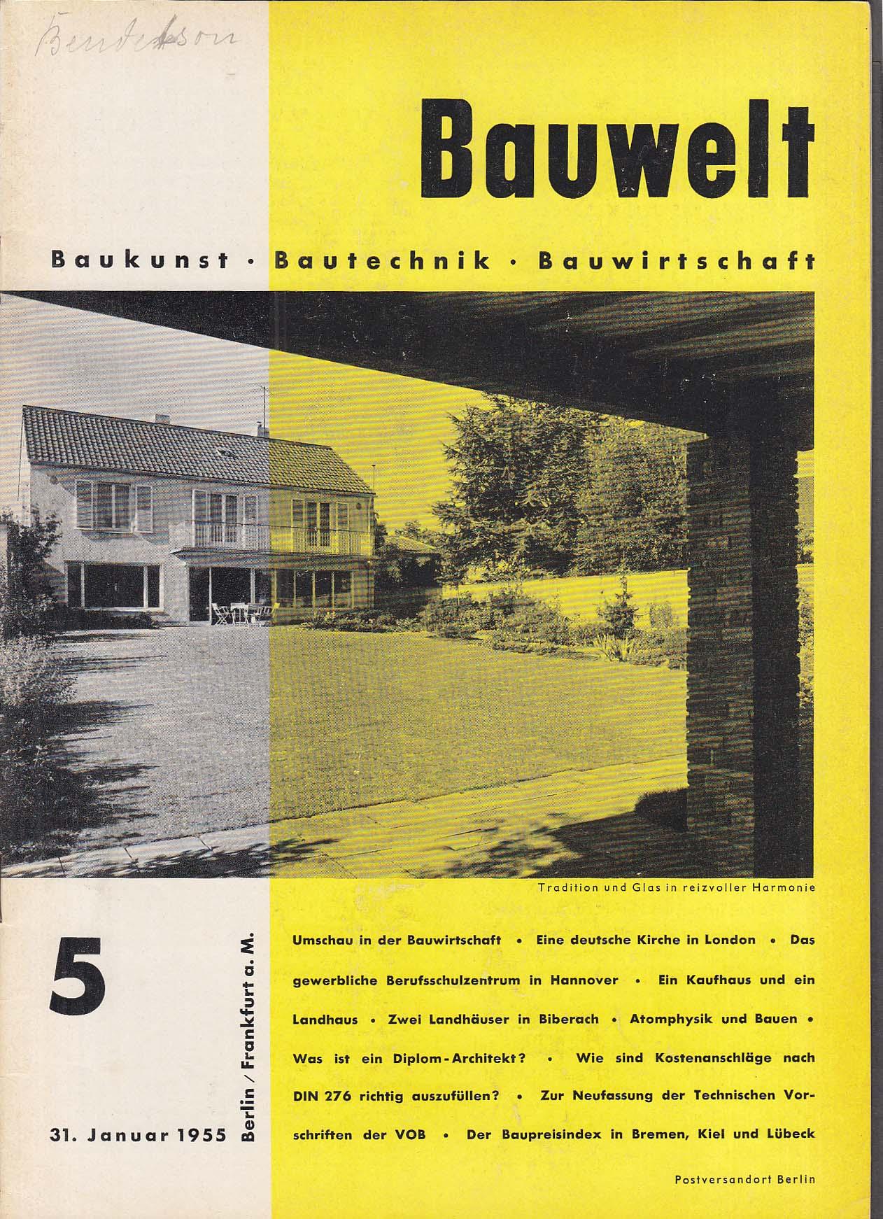 Bauwelt German architecture magazine 1/31/1955 5