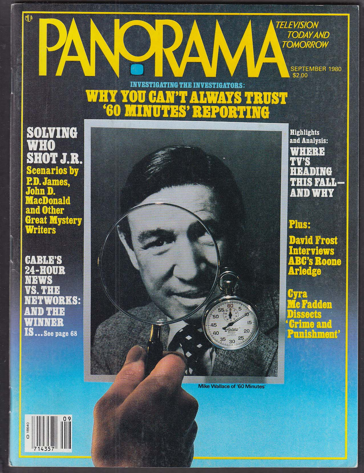PANORAMA Roone Arledge, 60 Minutes Mike Wallace David Frost Cyra McFadden 9 1980