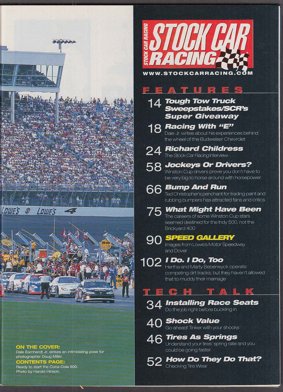 STOCK CAR RACING Dale Earnhardt Jr interview 9 2001