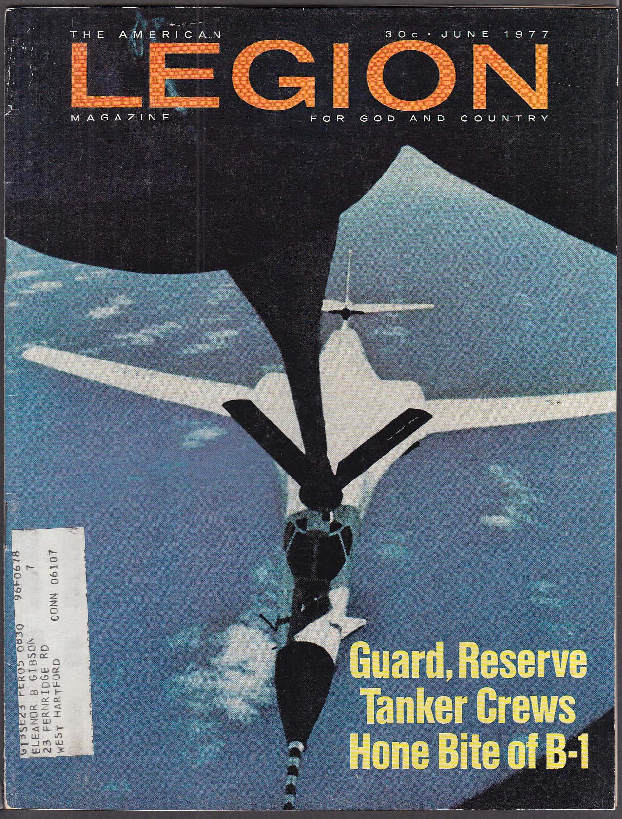 AMERICAN LEGION National Guard SAC B-1 refueling 6 1977