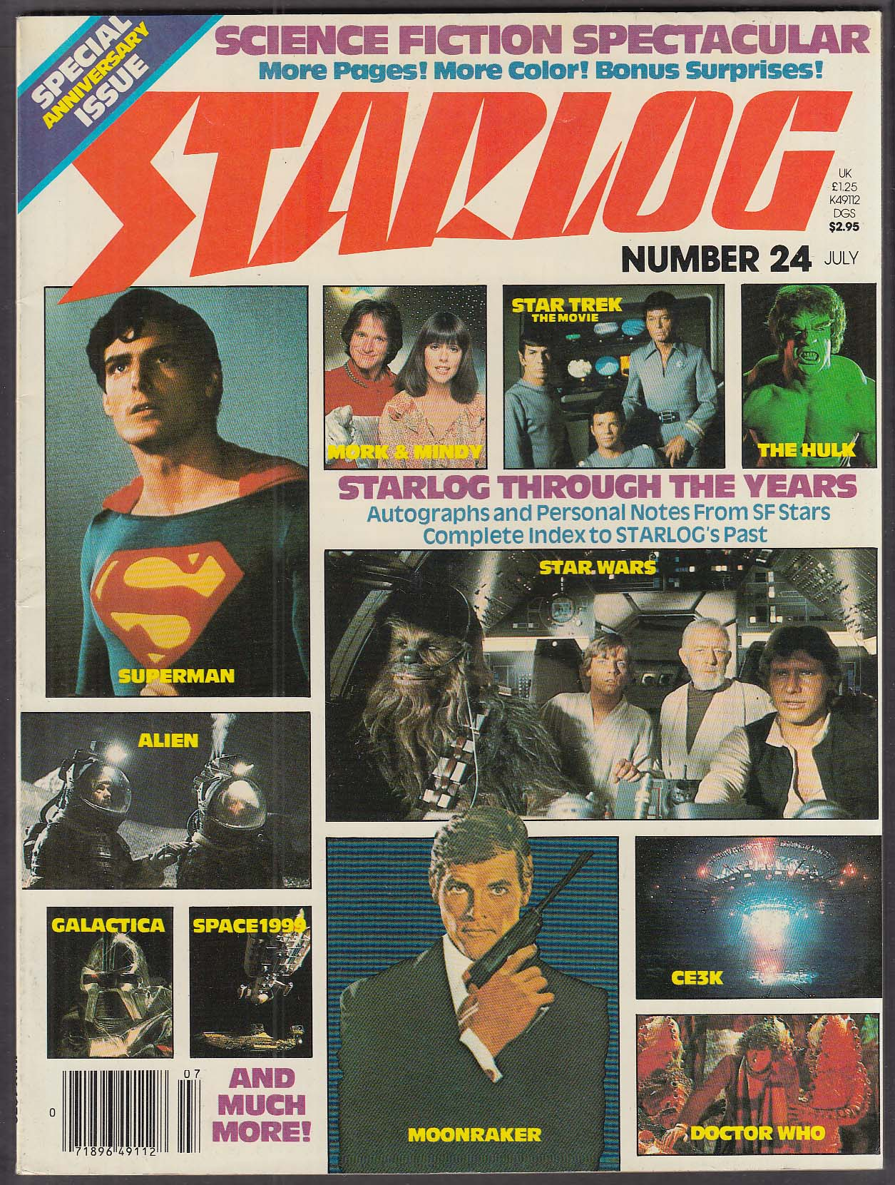 STARLOG #24 Star Trek William Shatner Leonard Nimoy Superman Alien Dr Who 7 1979