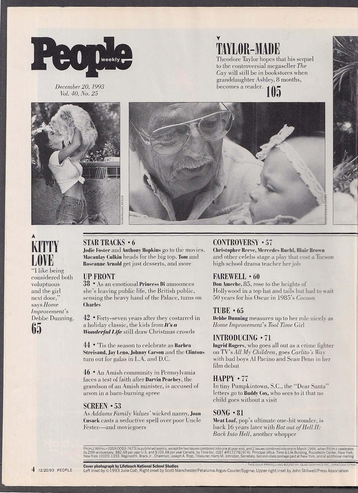 PEOPLE Weekly Princess Diana Polly Klaas ++ 12/20 1993
