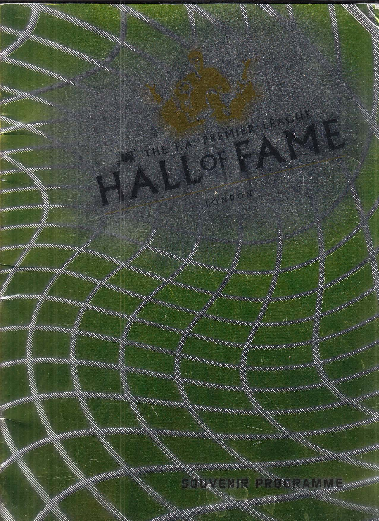 FA Premier League Hall of Fame London souvenir program 1999