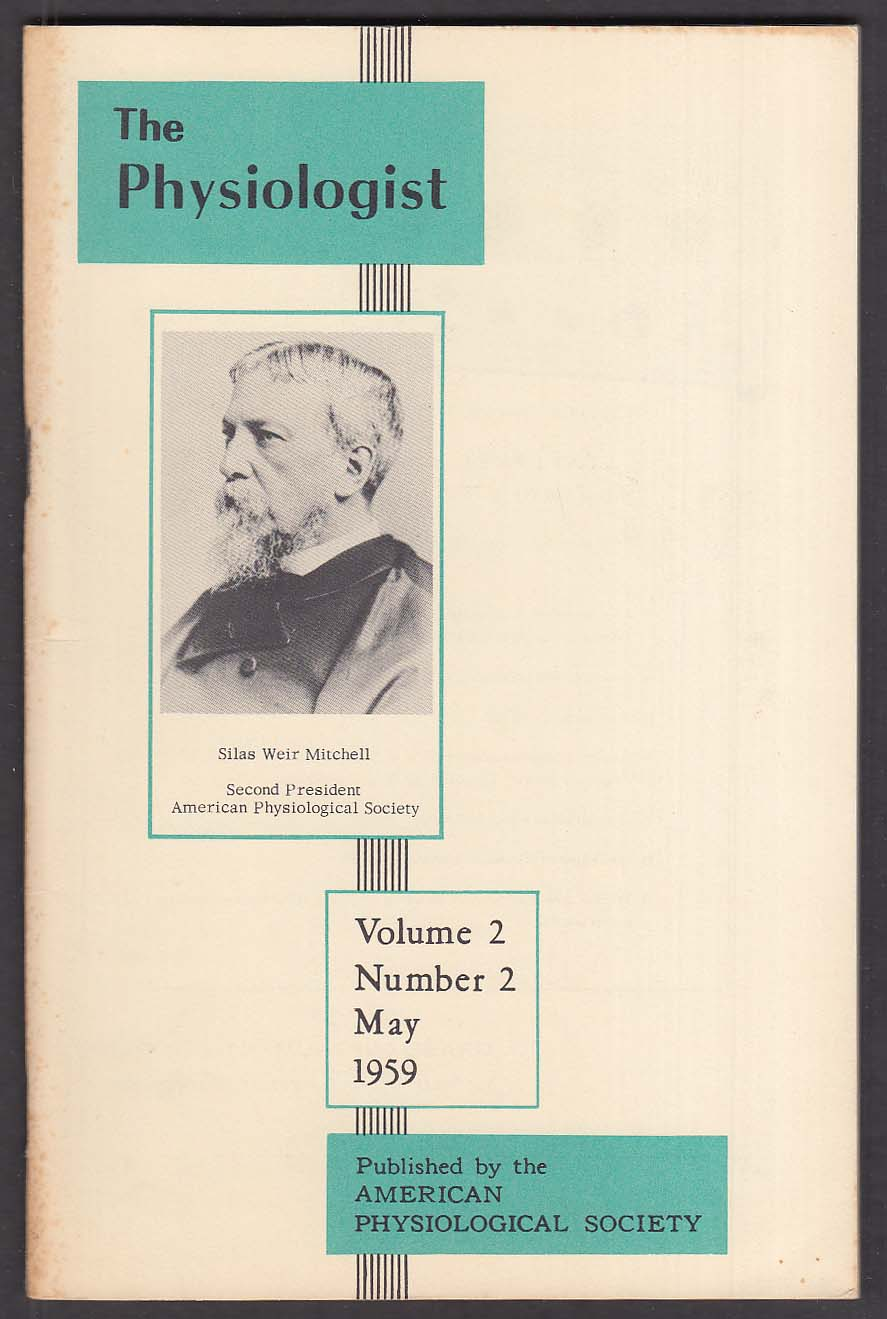 The Physiologist Vol 2 #2 Silas Weir Mitchell 5 1959