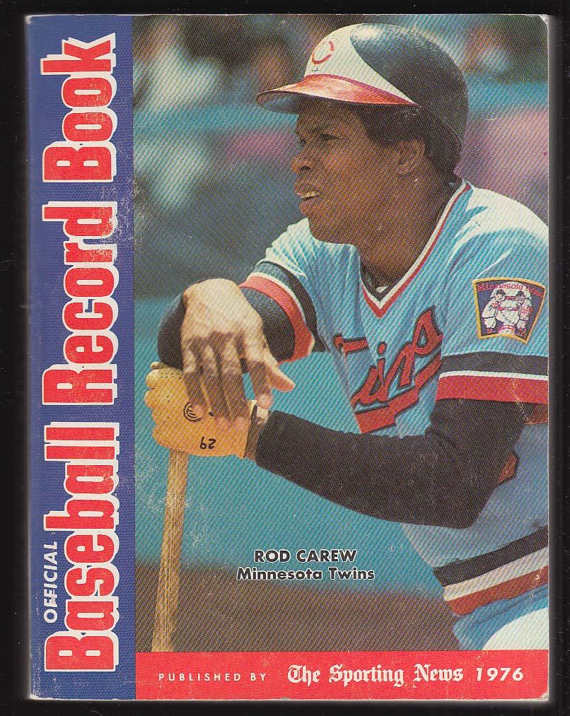 Rod Carew Dave Lopes: SN Baseball Record Book 1976
