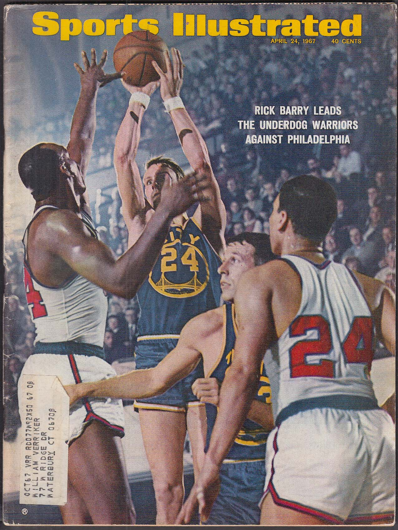 SPORTS ILLUSTRATED Roger Maris Canadiens Stanley Cup Masters 4/24 1967