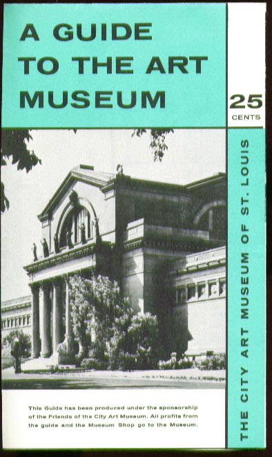 City Art Museum of St Louis MO Handbook 1953 + map