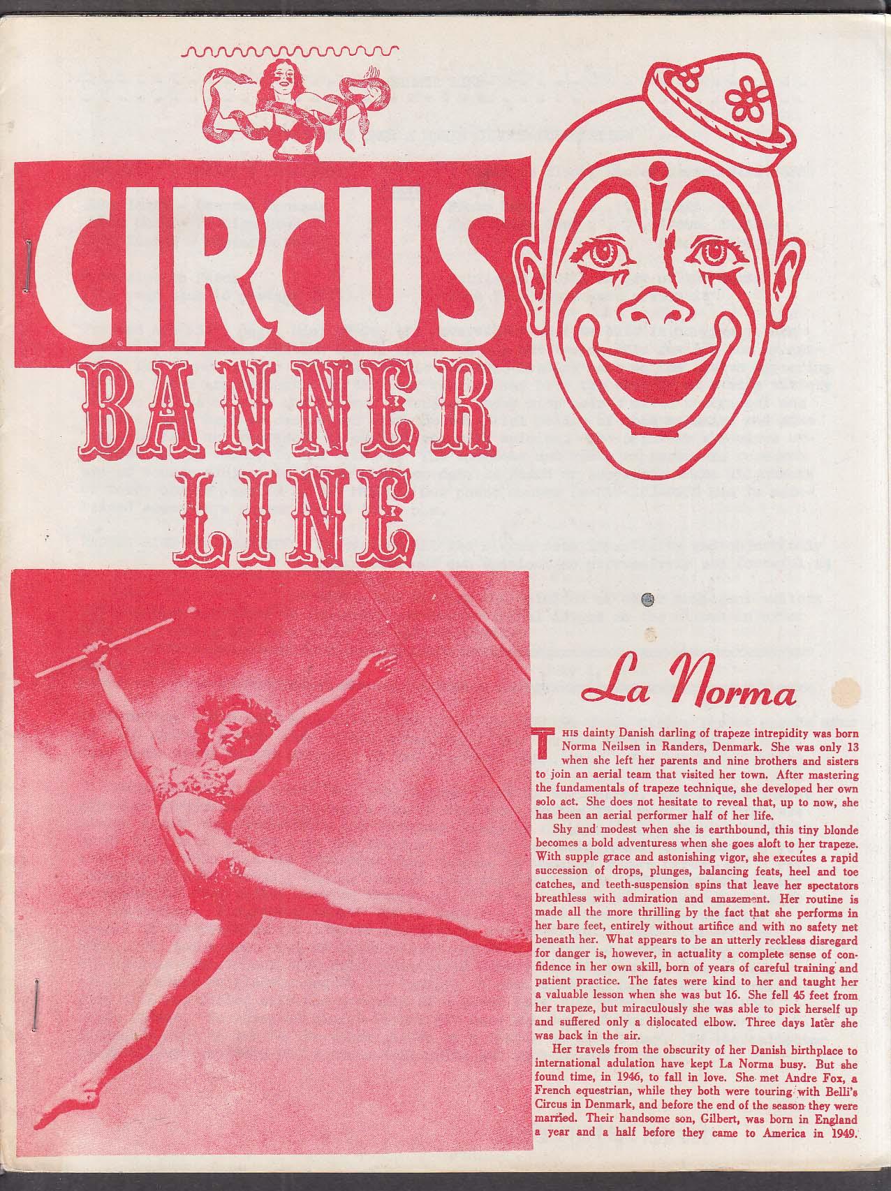 Circus Banner Line 7/1/1982 John Glenroy Bailey Bros ++