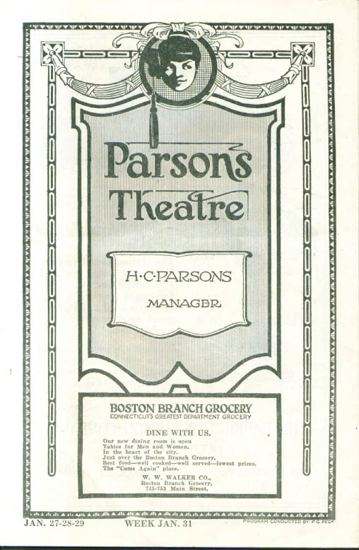 Image for Helen Hayes Bab Parsons Theatre Hartford CT 1921