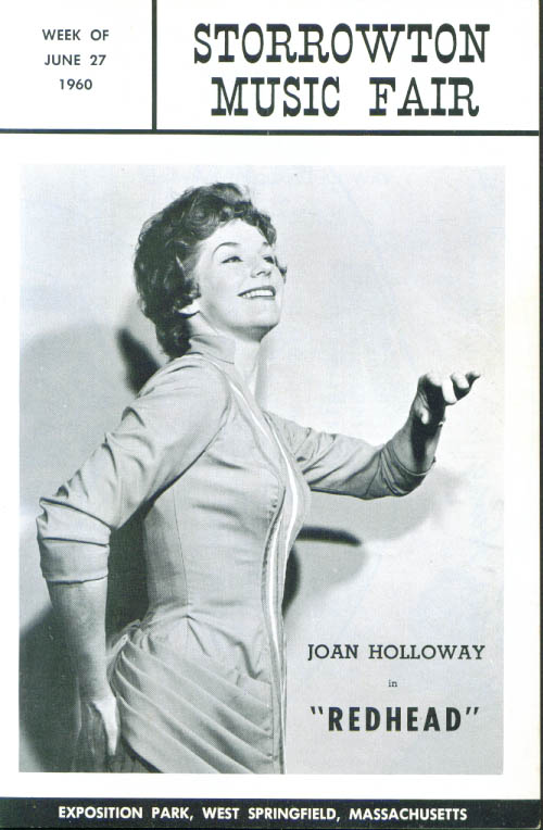 Image for Joan Holloway in Redhead Storrowton Music Fair program W Springfield MA 1960
