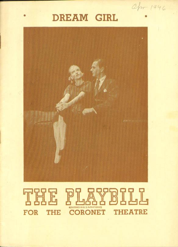 Betty Field Dream Girl Playbill New York 1st run 1946