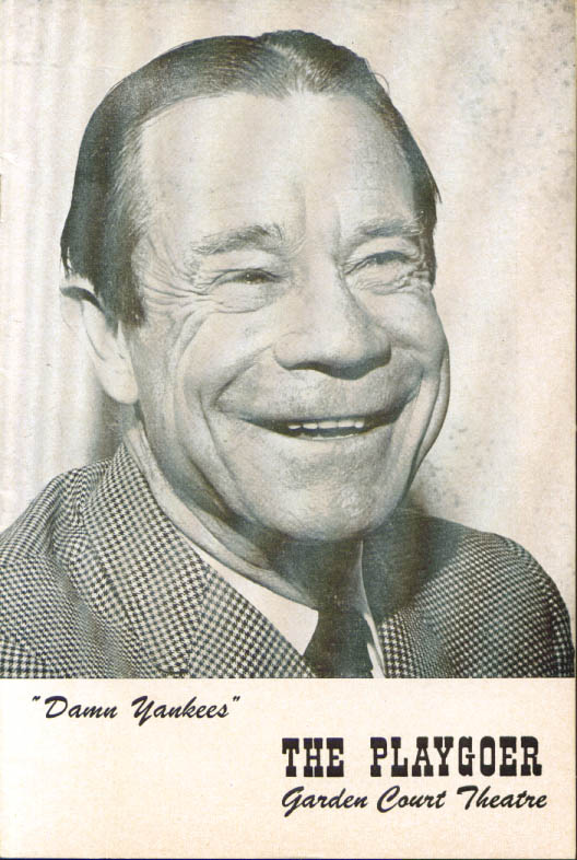 Joe E Brown Damn Yankees Playgoer San Francisco 1962