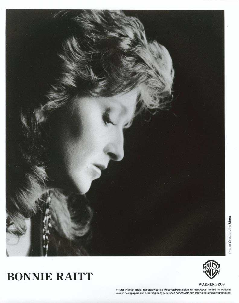 Bonnie Raitt Warner Bros. Press Kit & 8x10 1986