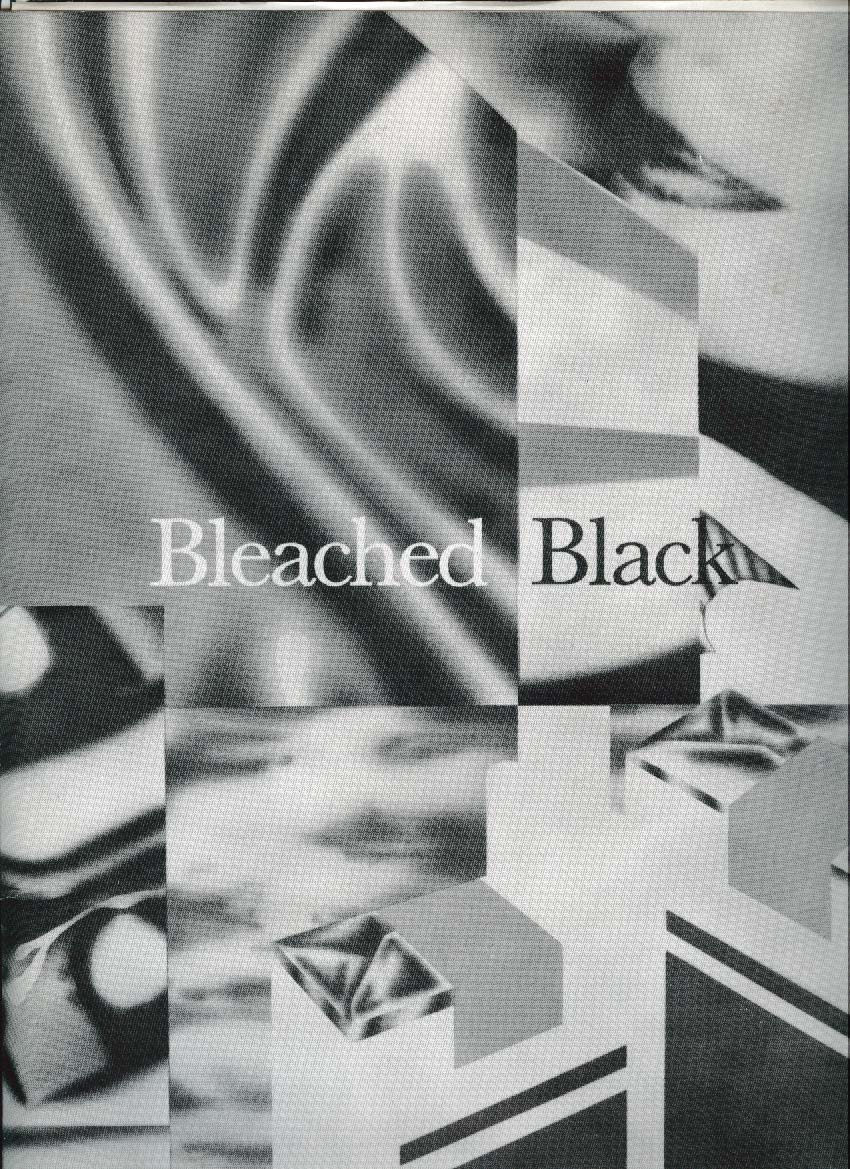 Bleached Black Relativity press kit & poster 1987
