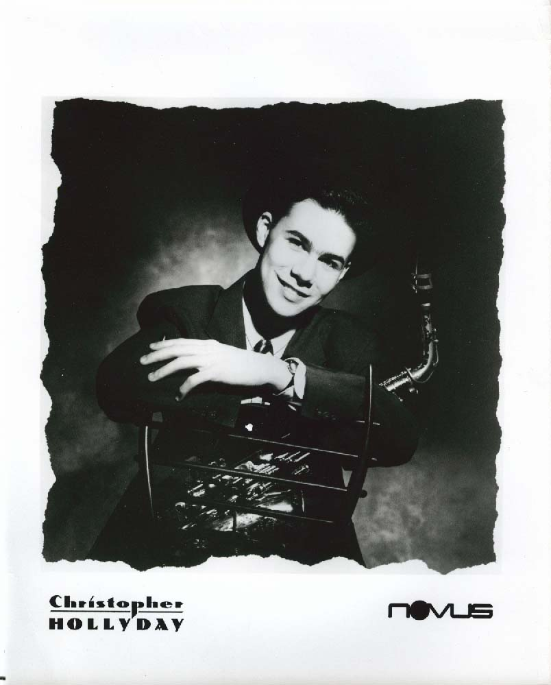 Christopher Hollyday 8x10 & Novus press release 1989