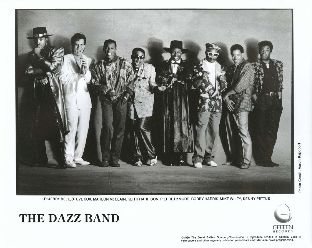 The Dazz Band 8x10 & Geffen Records press release 1986